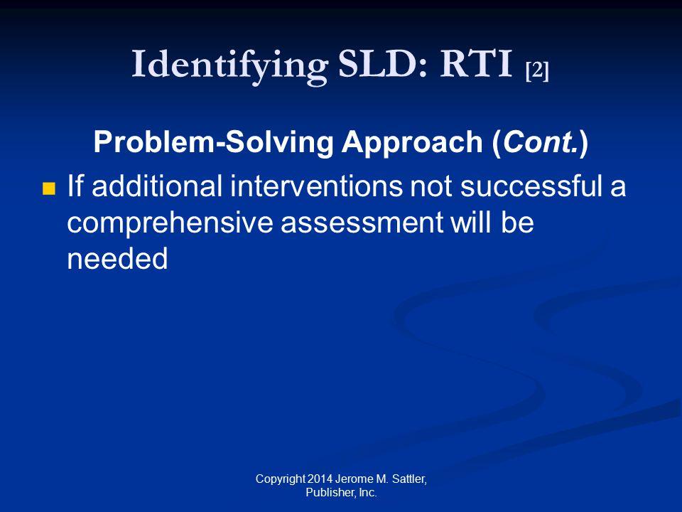 Identifying SLD: RTI [2]